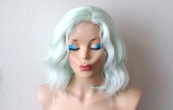 pastel mint wig. lace front
