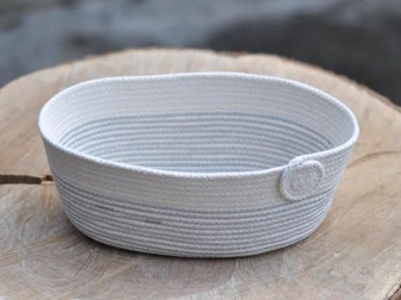 White Decorative Rope Bowl