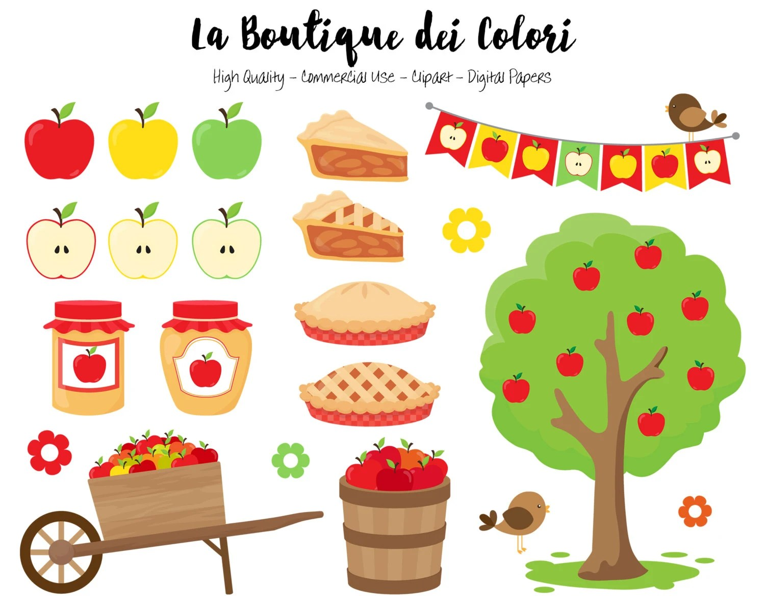 apple picking clipart cute illustrations