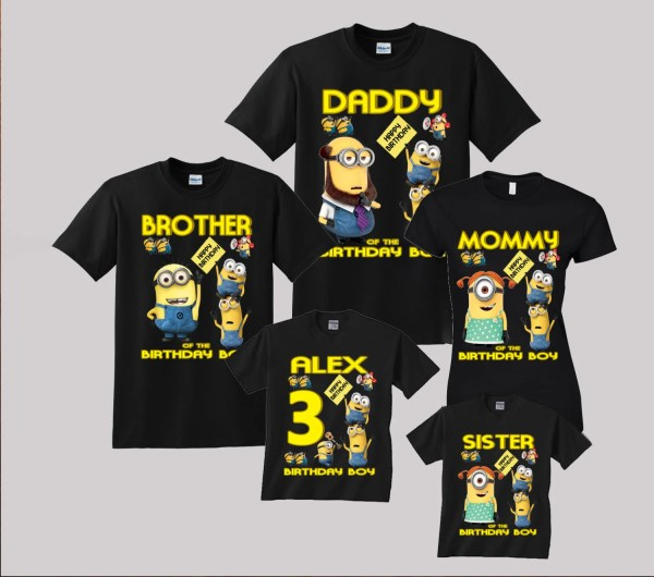Minion Birthday Shirts Family