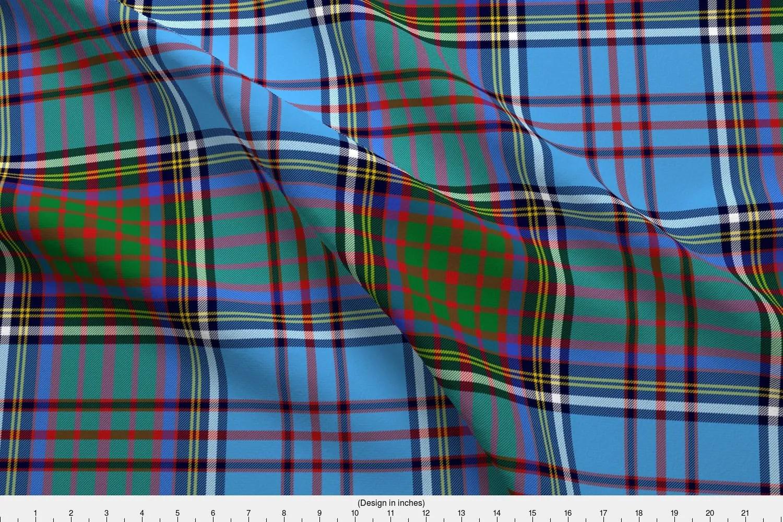 Blue Plaid Fabric - Anderson Family Tartan Weavingmajor