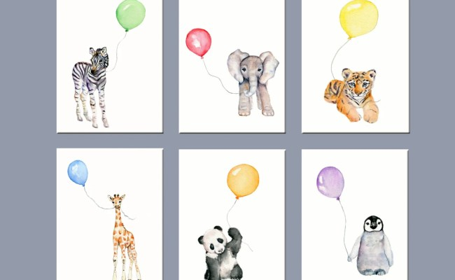 Nursery Art Animals Nursery Wall Decor Zoo Animal Nursery