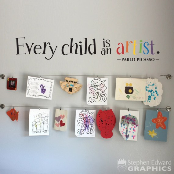 Children Art Display Wall Decal