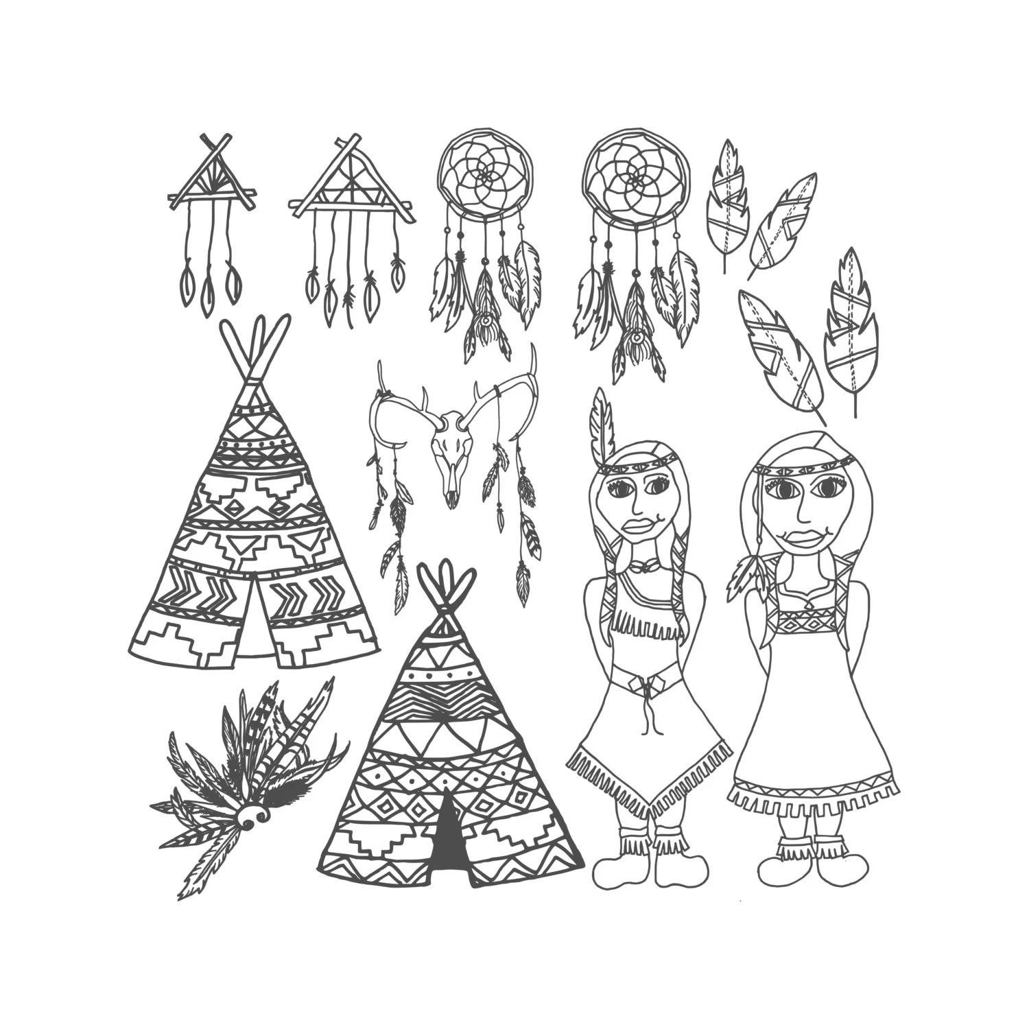 Tribal Coloring Page Printable Coloring Page Adult Coloring