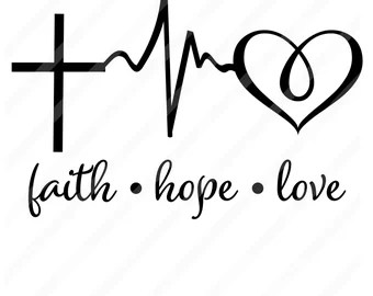 Download Faith hope love | Etsy