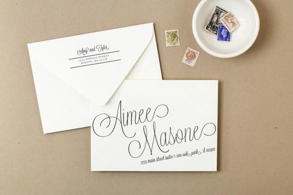 Wedding Envelope Template Printable