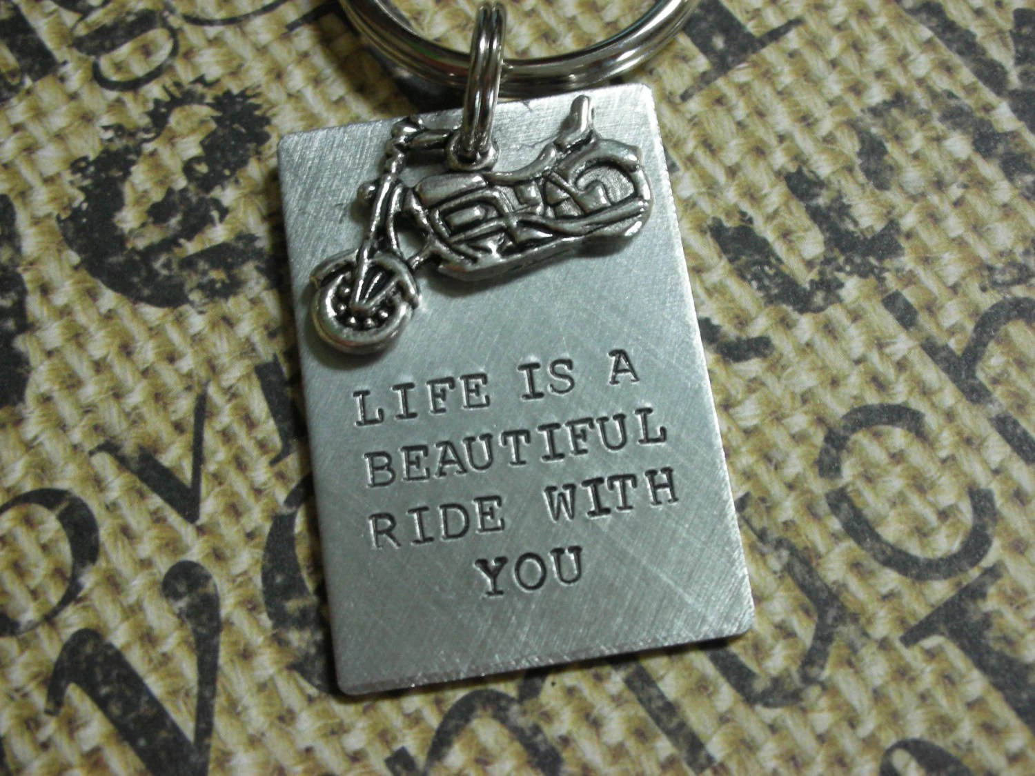 Harley Davidson Motorcycle Keychainlife Is A Beautiful Ride