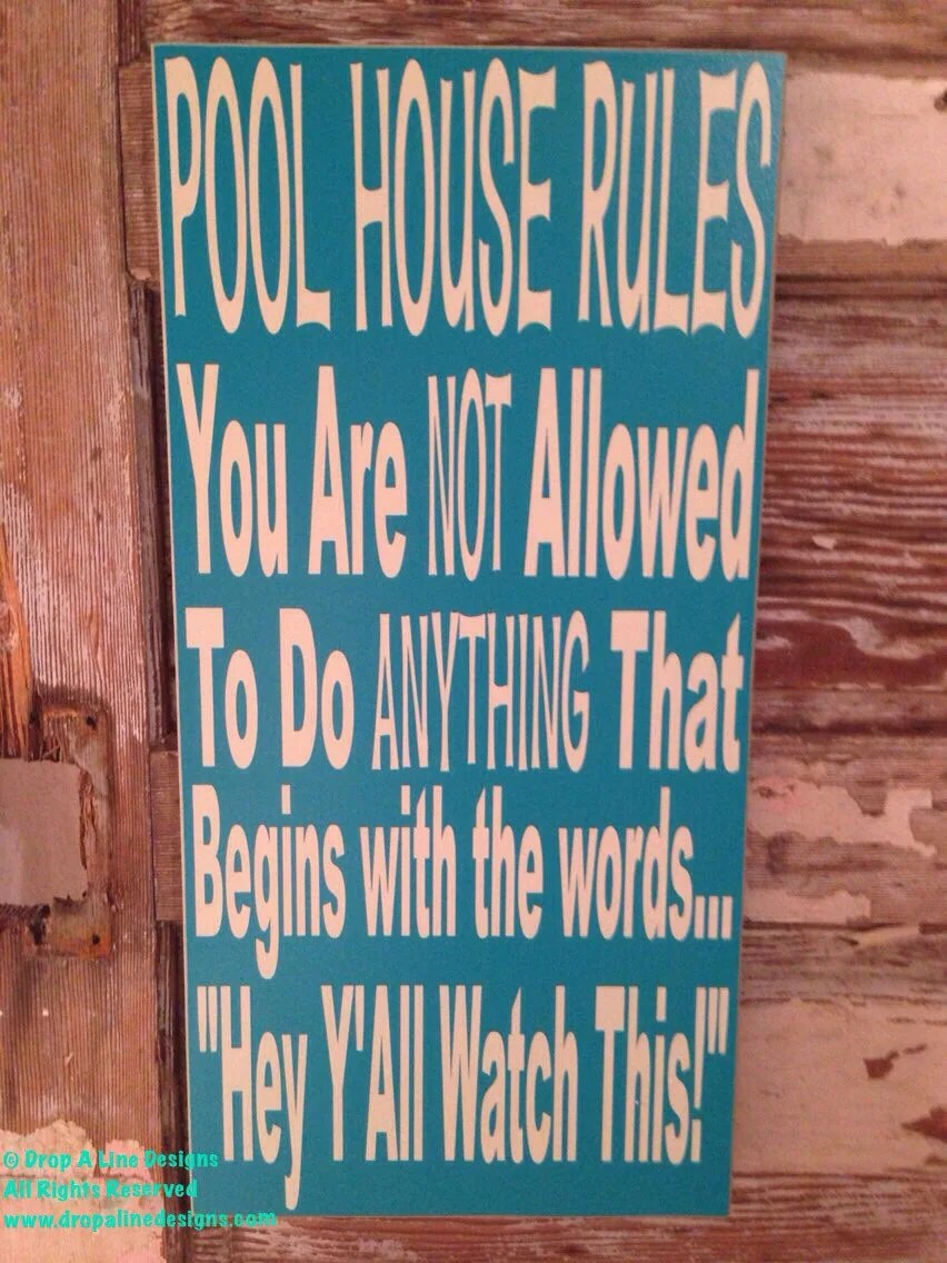 Funny House Rules