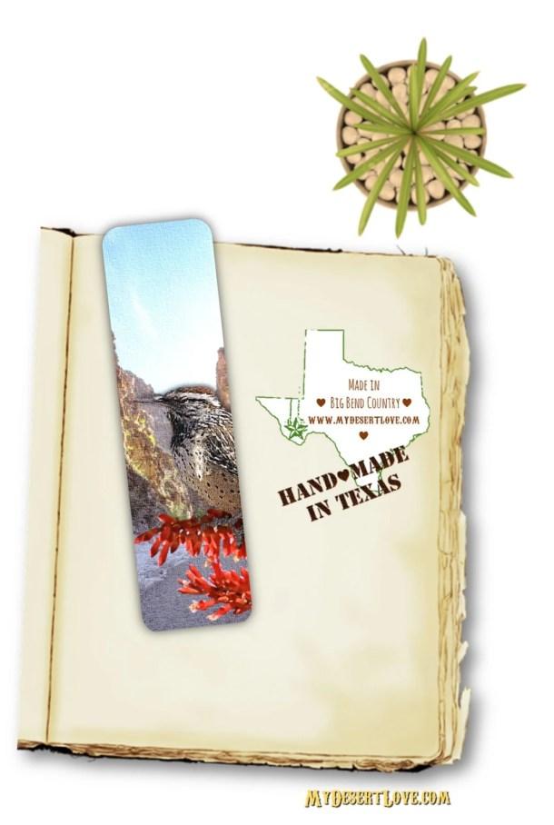 Bird Photo Bookmark, Cact...