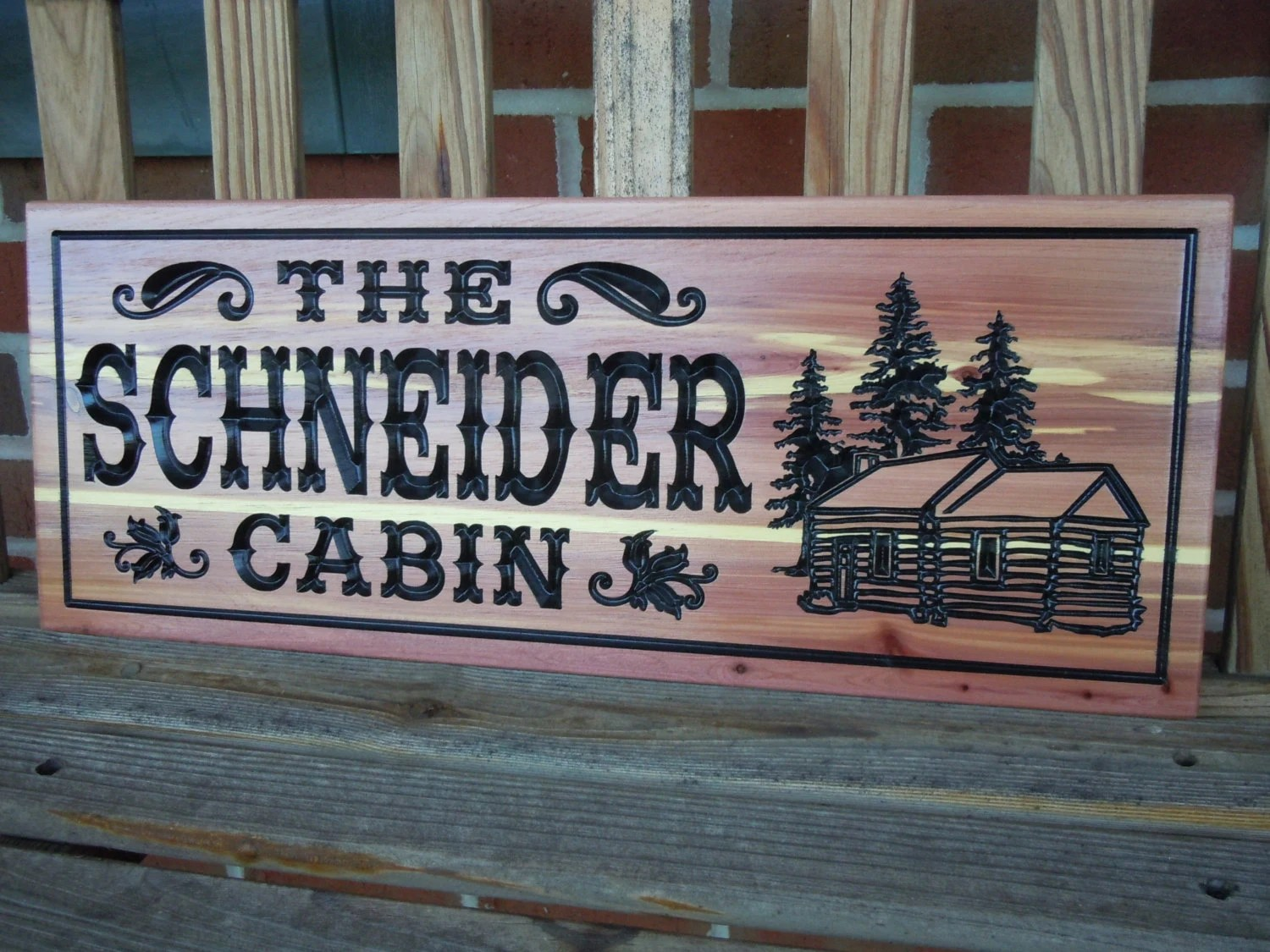 Custom Outdoor Signs Family Cabin Sign