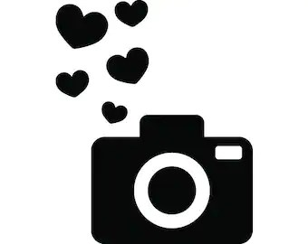 Download Heart camera svg | Etsy