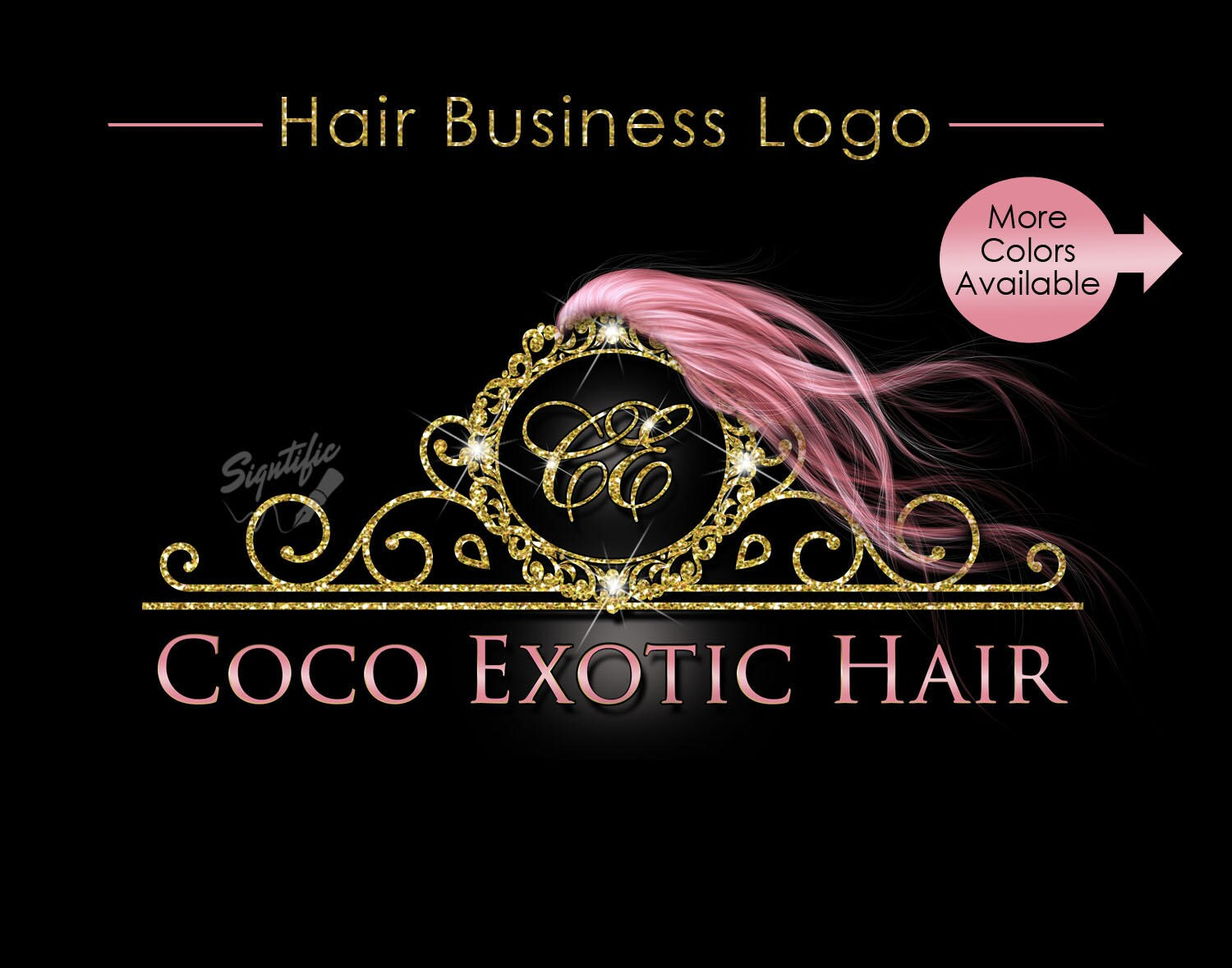 hair extensions business logo rose