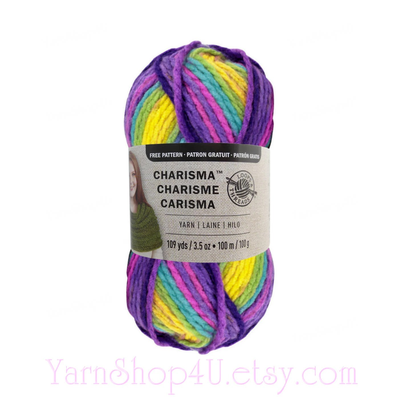 Bouquet Bulky Charisma Loops And Threads Yarn Purple - Year