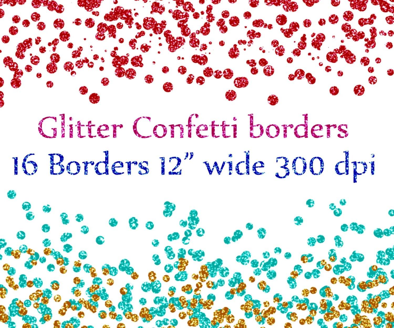 confetti borderst clipart