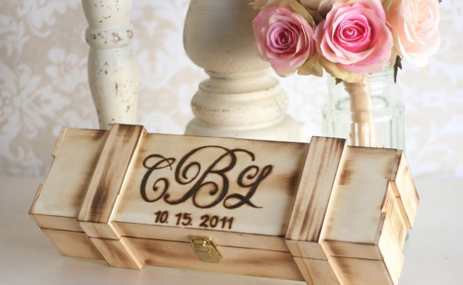 Personalized Wine Box Wedding Gift Bridal Shower Engagement