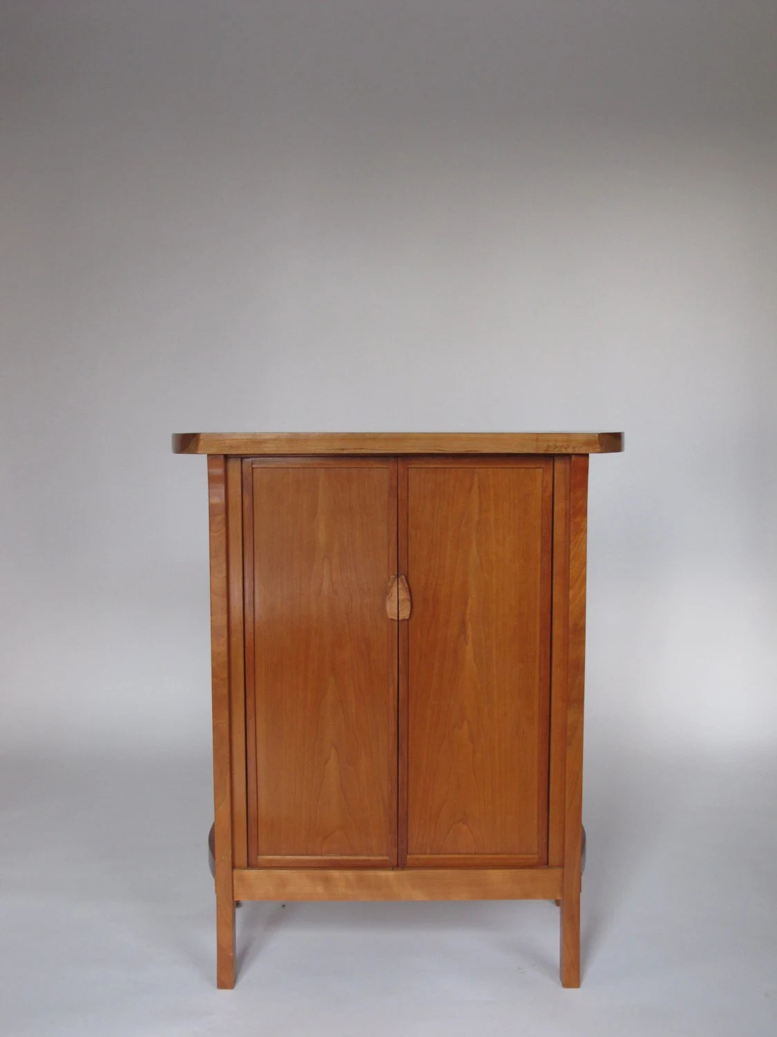 Items Similar To Cherry Bar Cabinet Narrow Wood Bar