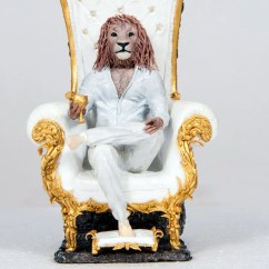 The Chair King Big Man Altered Bottle Of Lion Statue Sculpture