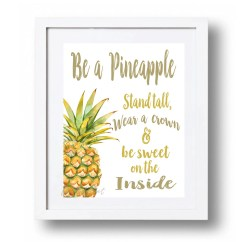 Pineapple Decorations For Kitchen Moen Two Handle Faucet Be A Stand Tall Printable Watercolor