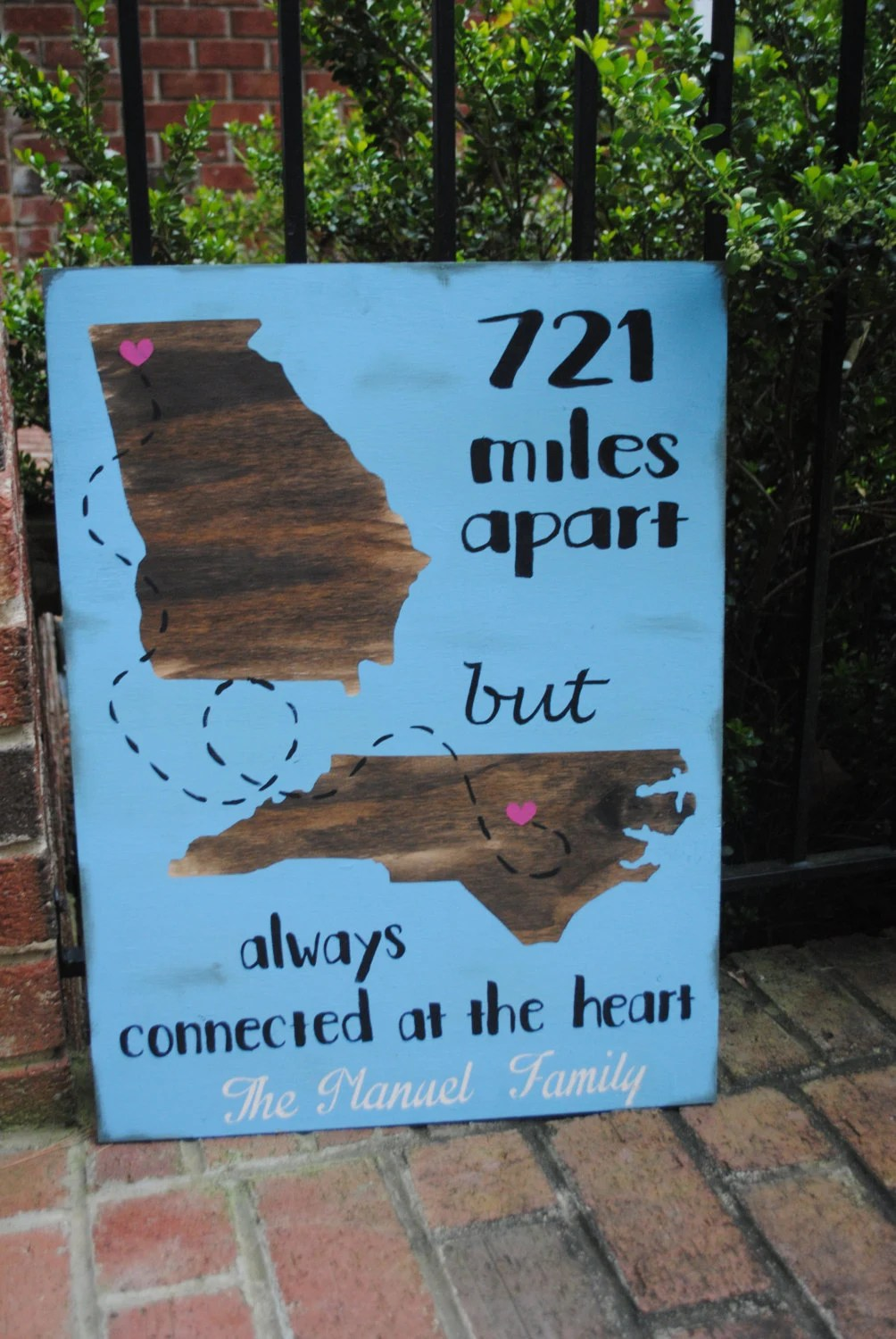 Going Away Gift Friend Moving Sign Painted Rustic Wood Sign