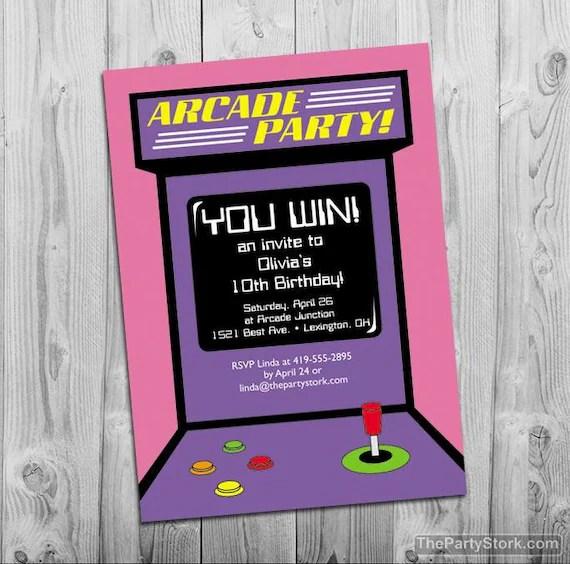 10th birthday party invitation