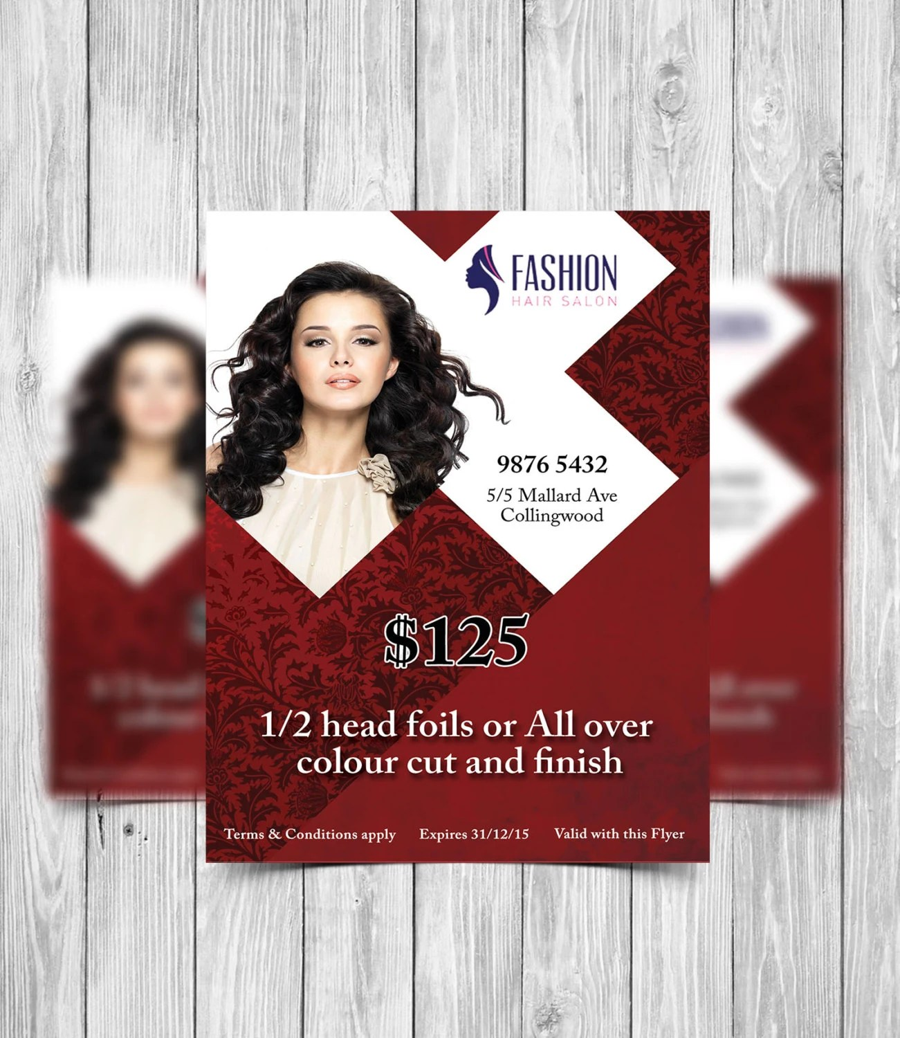 printable flyer template hair salon
