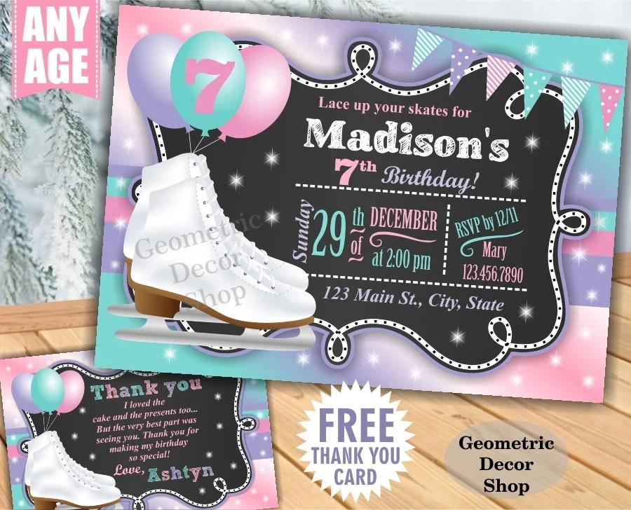 Free Roller Skating Birthday Party Invitations ~ Ice skating birthday party invitations free cogimbo