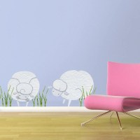 Sheep Wall Stickers Decals for Baby Room Wall Mural stk1101