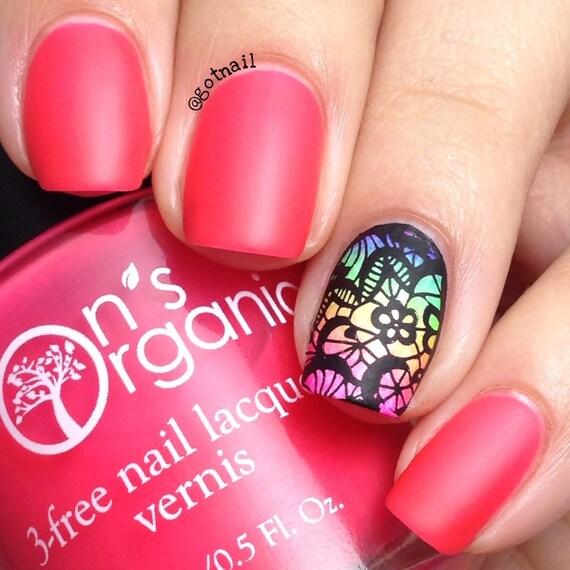matte pink nail polish neon