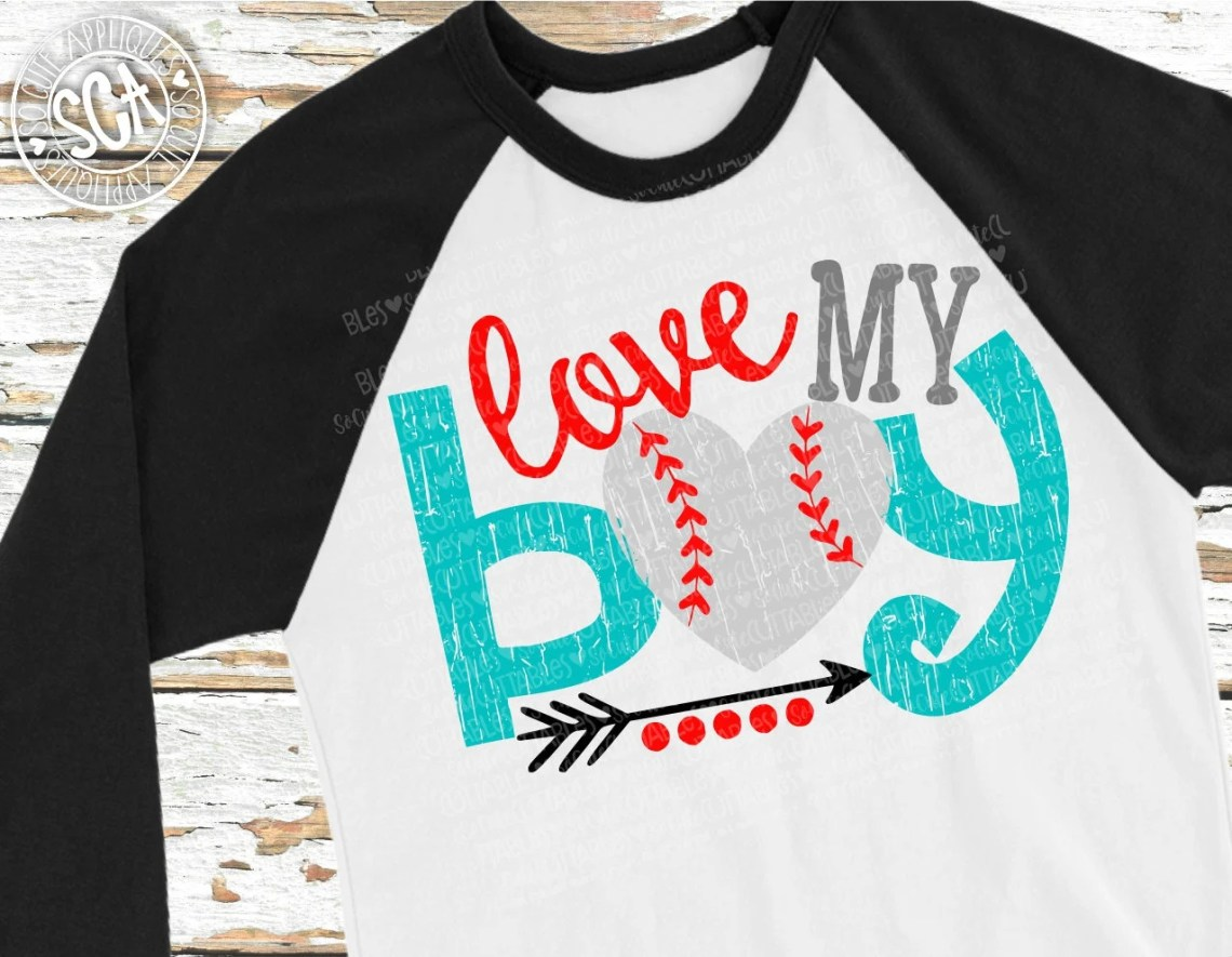 Download Baseball SVG Love my boy baseball cut file Baseball mom