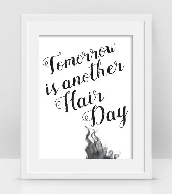 hair salon decor curly quotes