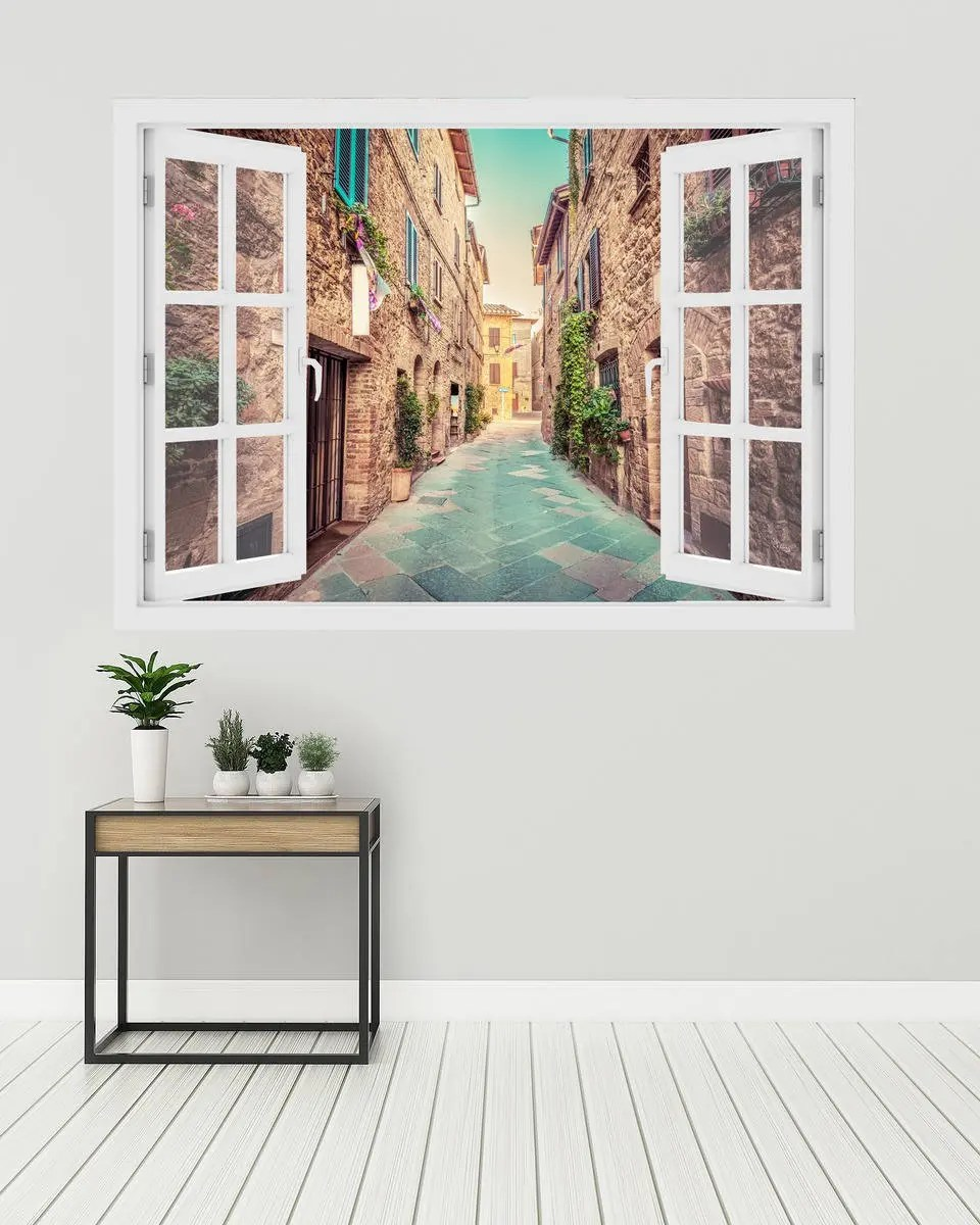 Gorgeous Funk with Tuscan Wall Murals