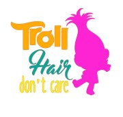 svg file troll hair don't care