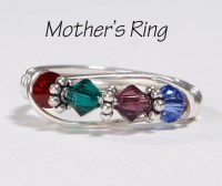 4 Stone Mother's Birthstone Ring: Personalized Sterling