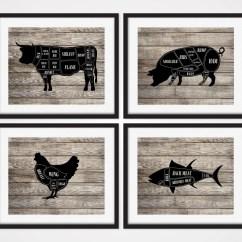 Pig Cuts Diagram 2001 Chevy Silverado 1500 Radio Wiring Butcher Chart Kitchen Art Prints Cow