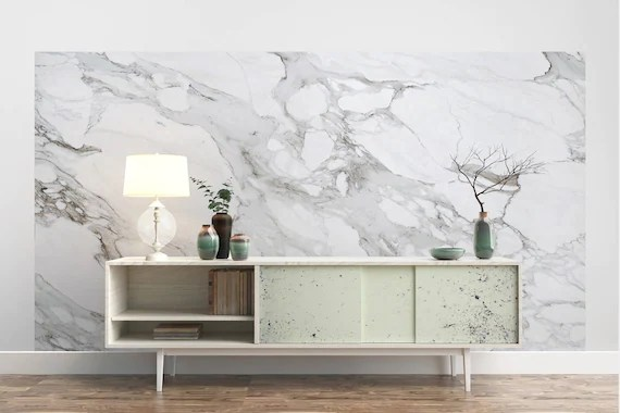Carrara Marble Wallpaper Luxury Removable Peel and stick