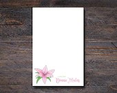 Pink Lily Notepad - Flora...