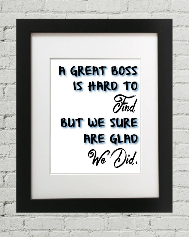 A Great Boss Is Hard To Find Gift For Boss Boss Gift Gifts