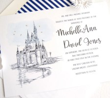 Disney World Cinderella's Castle Fairytale Wedding Invitation