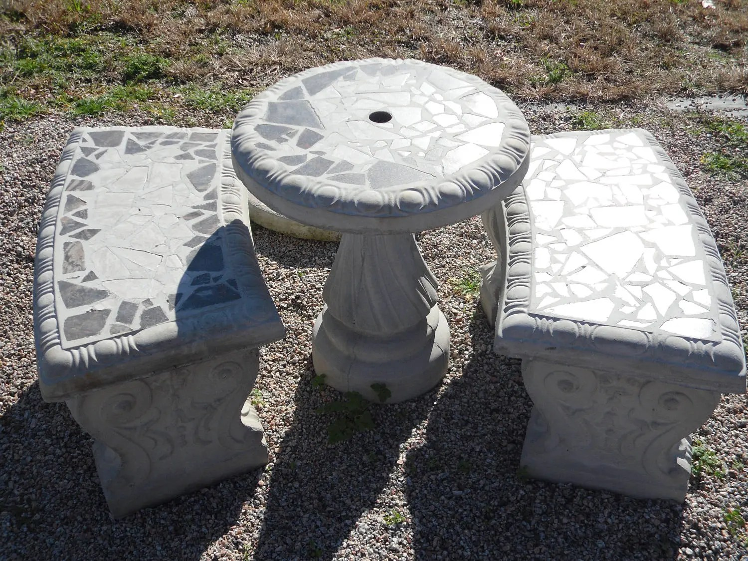 21' Small Patio Table Set Outdoor Tabe