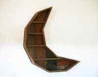 Crescent Moon Curiosity Cabinet // Reclaimed Wood Moon ...