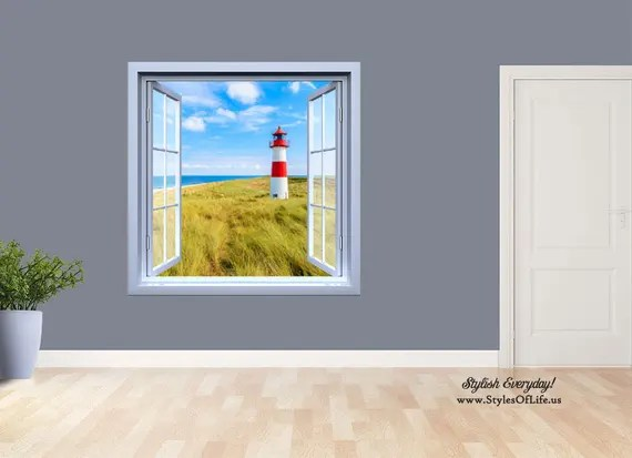 Lighthouse Window Wall Decal by StylesofLife