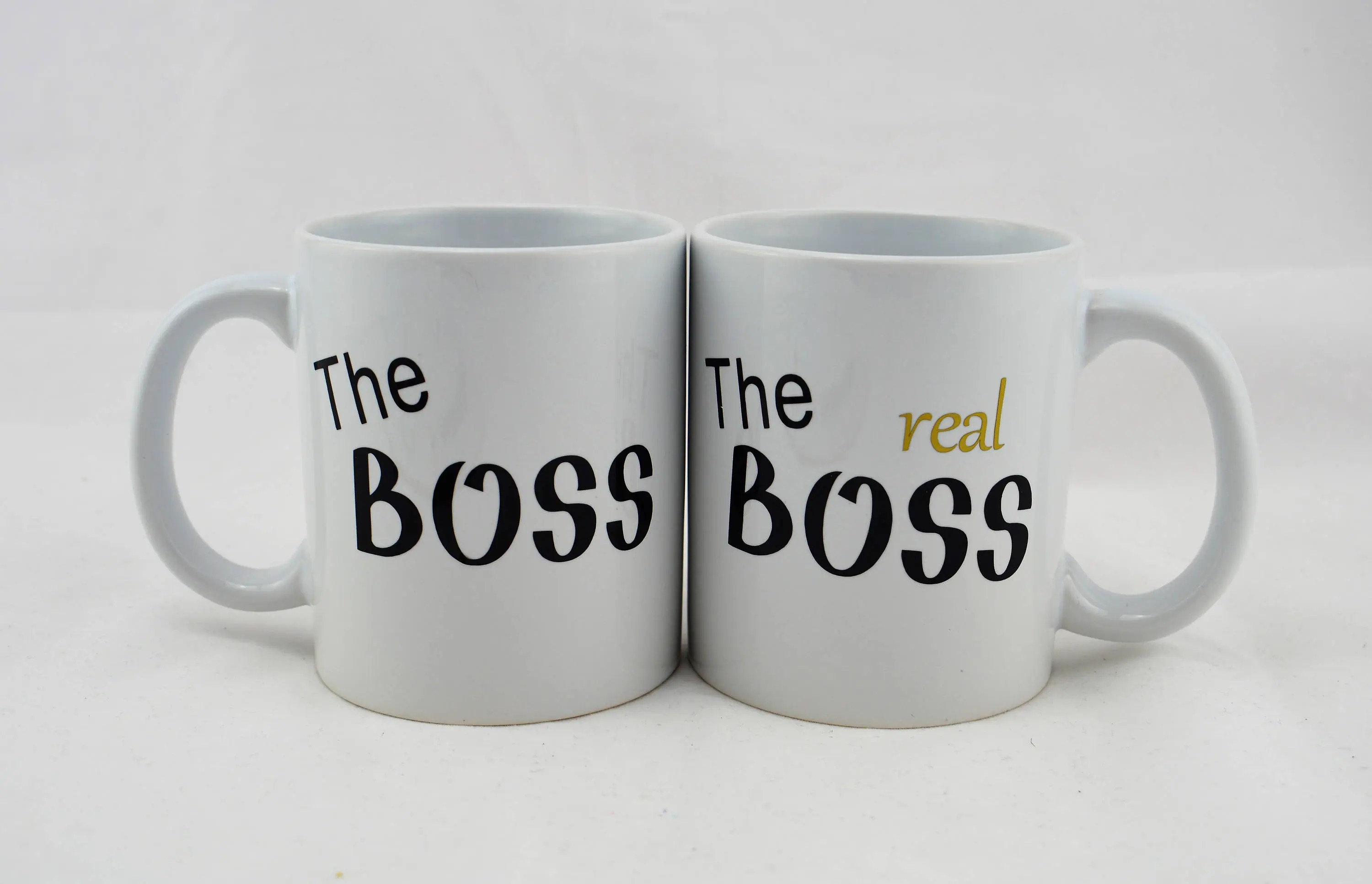 The Boss The Real Boss Couples Mugs Couples Gift Wedding