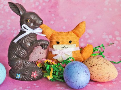 Sweet Orange Fox Stuffed Toy with Pink Ribbon Tie: Mini Plush Woodland Animal Tiny Fox