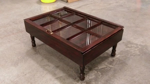 Wood Shadow Box Coffee Table Mahogany