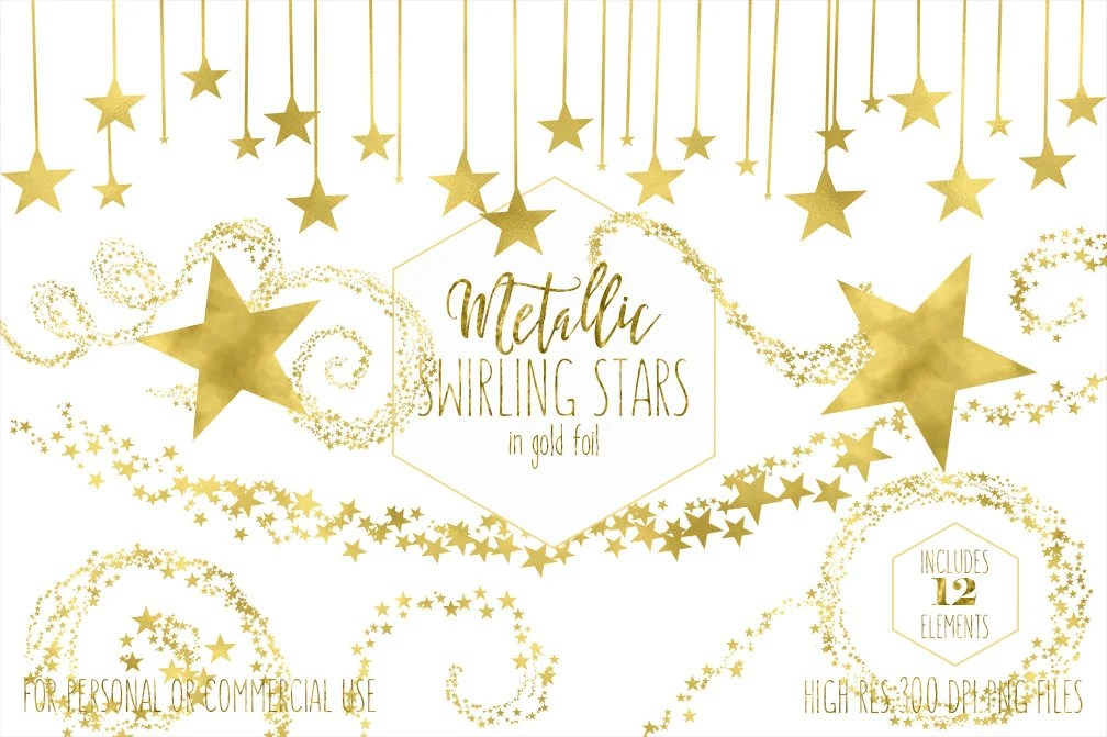 gold star clipart commercial
