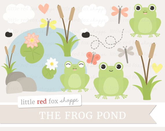 frog clipart pond clip art