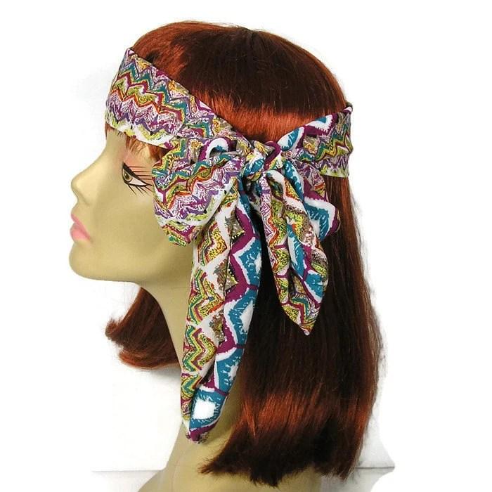 aztec hair scarves coachella