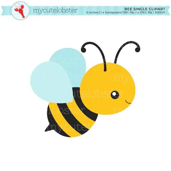 bee single clipart clip art of