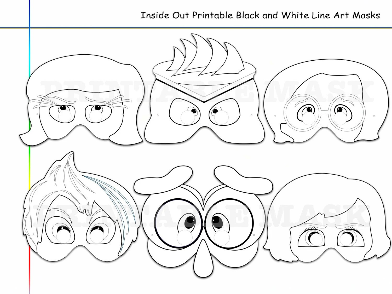 Coloring Pages Emotions Printable Black And White Line Art