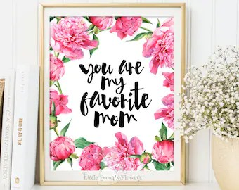 Mother S Day Print Wall Art Decor Printable Gifts For Mum